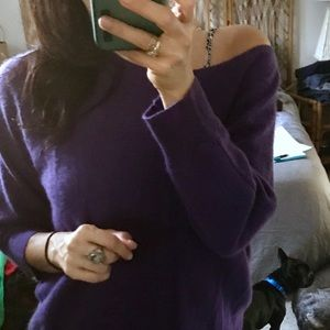 Cynthia Rowley 100% Cashmere Violet Sweater